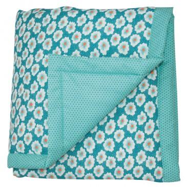 Plaid-bebe-osami-turquoise