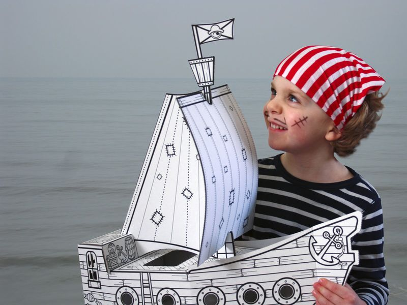 Pirate with Boat