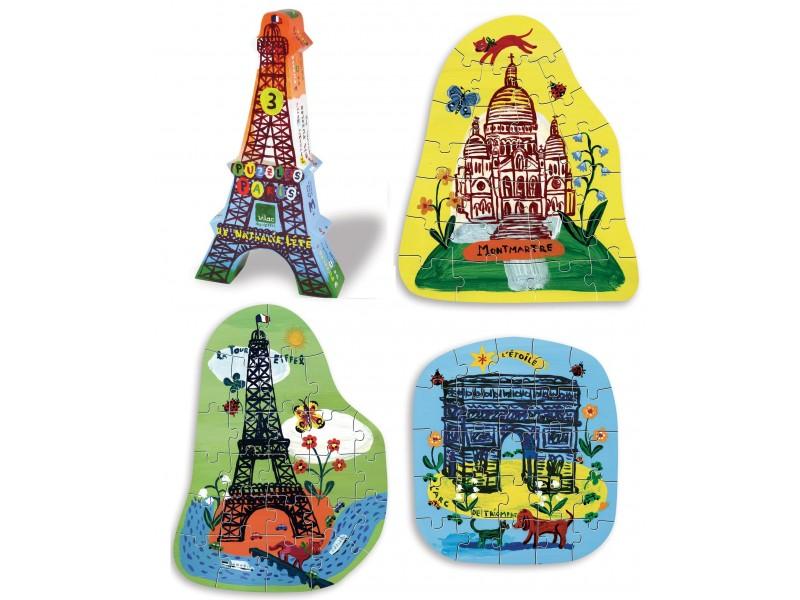 Puzzle-tour-eiffel-arc-de-triomphe-montmartre-nathalie-lete