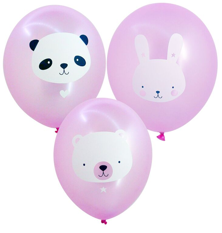 Ballons-animaux-roses