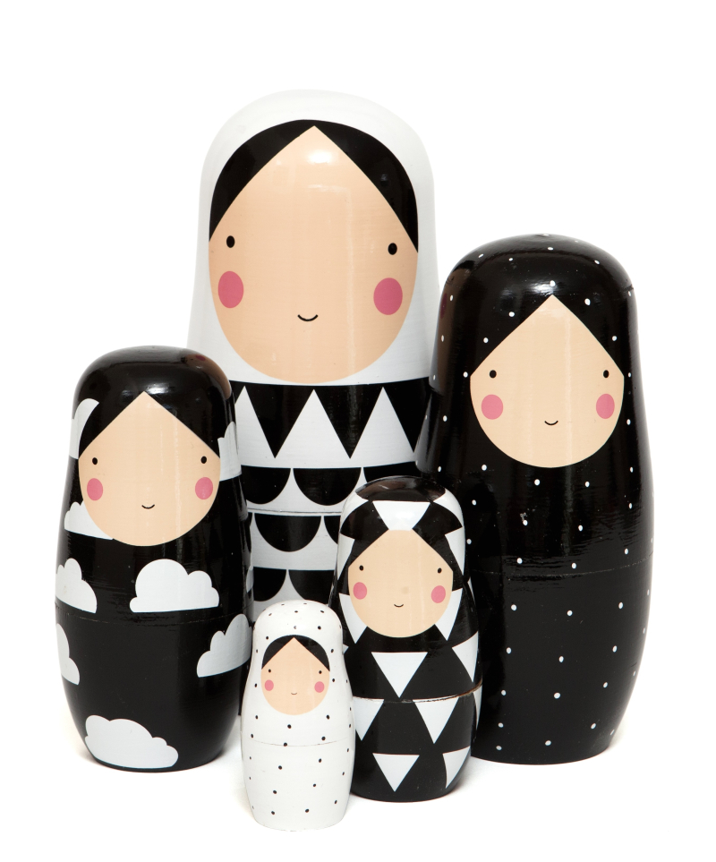 Nesting dolls B&W XL ND5XL c