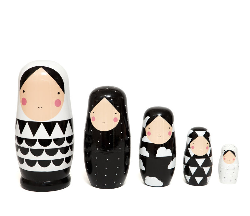 Nesting dolls B&W XL ND5XL