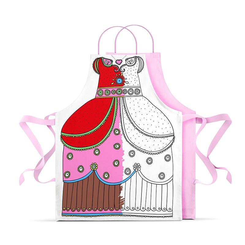 Deguisement-de-princesse-a-colorier-marielle-bazard-colorié