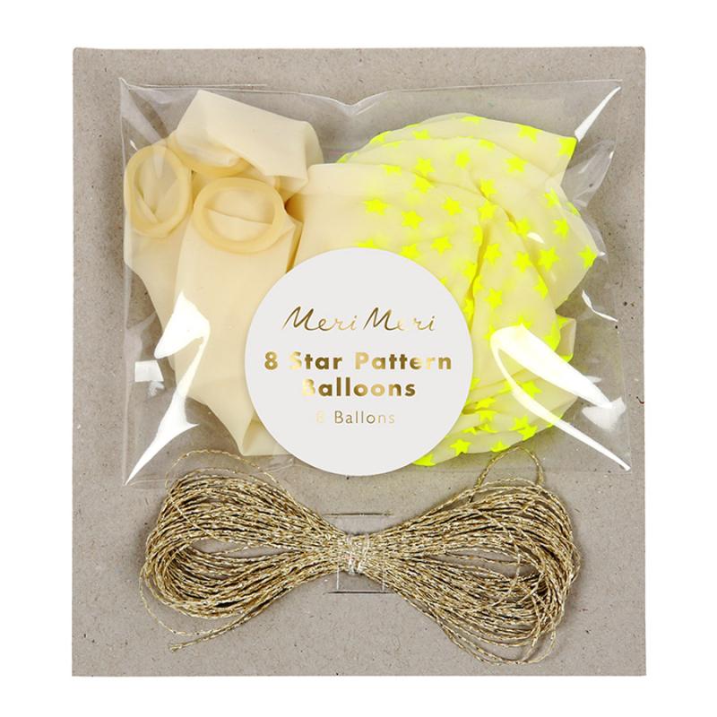 Ballons-etoiles-jaune-fluo-8-