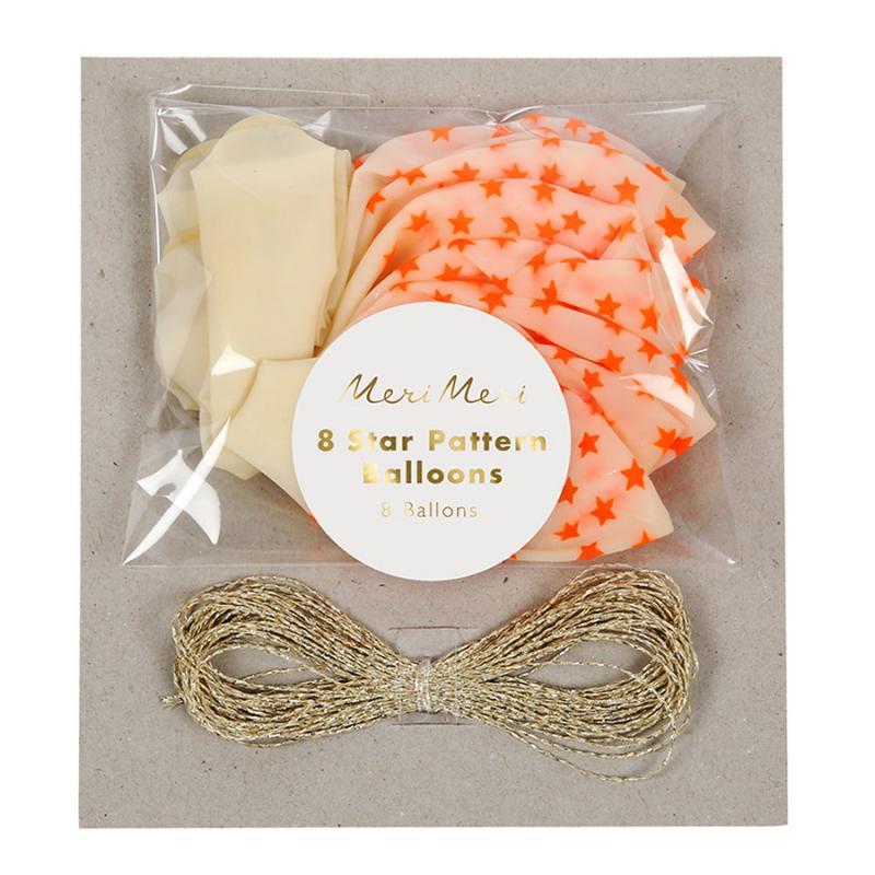 Ballons-etoiles-orange-fluo-8