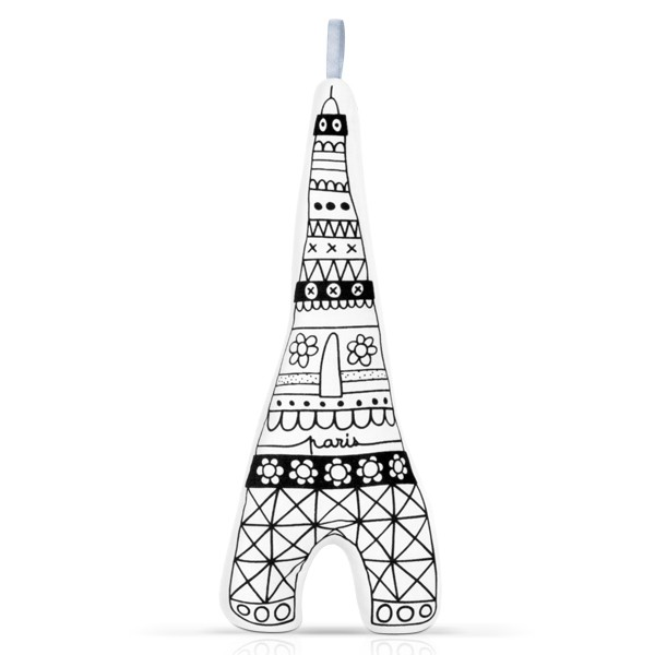 Tour eiffel à colorier