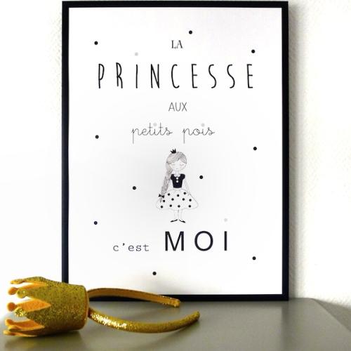 AFFICHE-princesse-petits-pois-boutique-enfant-caravane-faubourg-paris