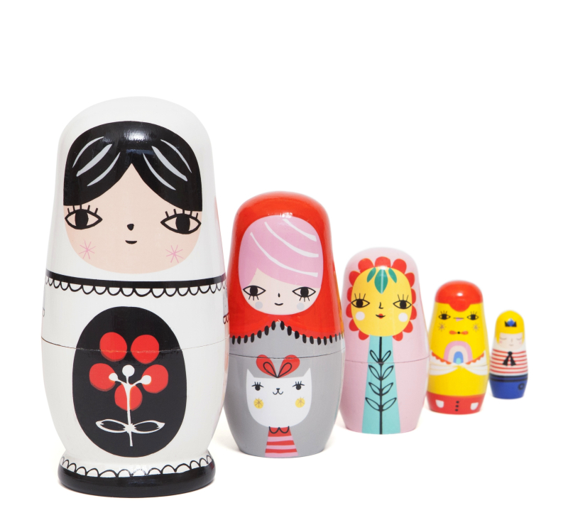 Nesting dolls fleur & friends ND4 a