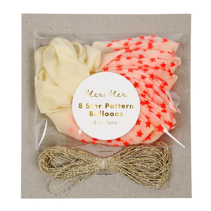 Ballons-etoiles-corail-8
