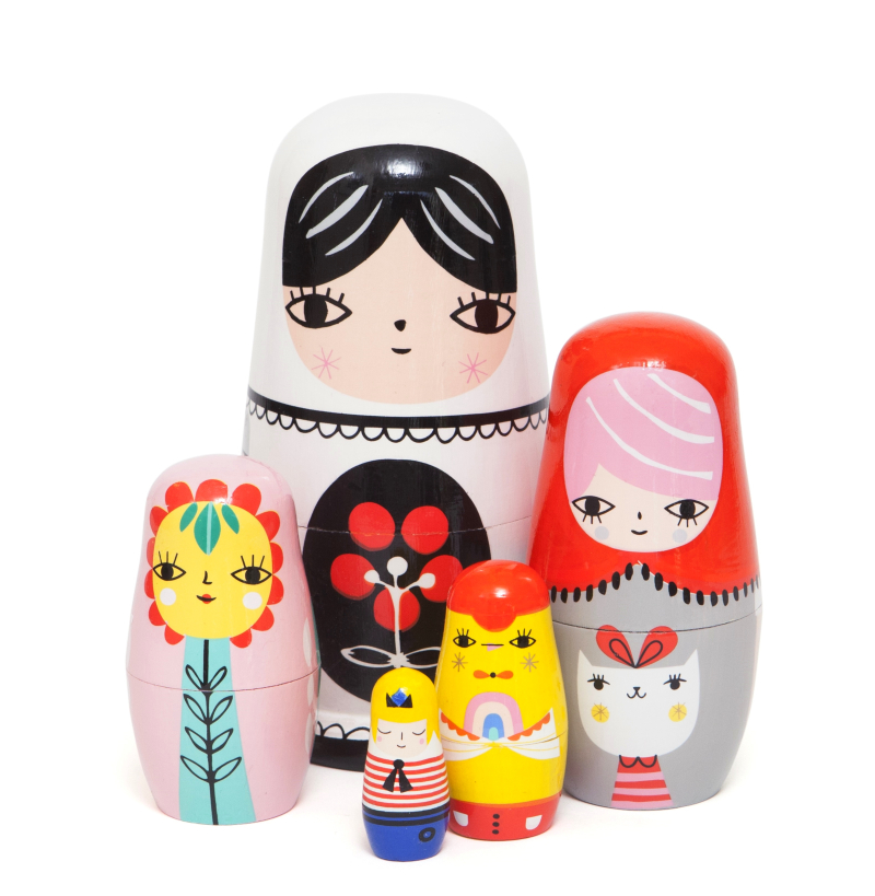 Nesting dolls fleur & friends ND4 b