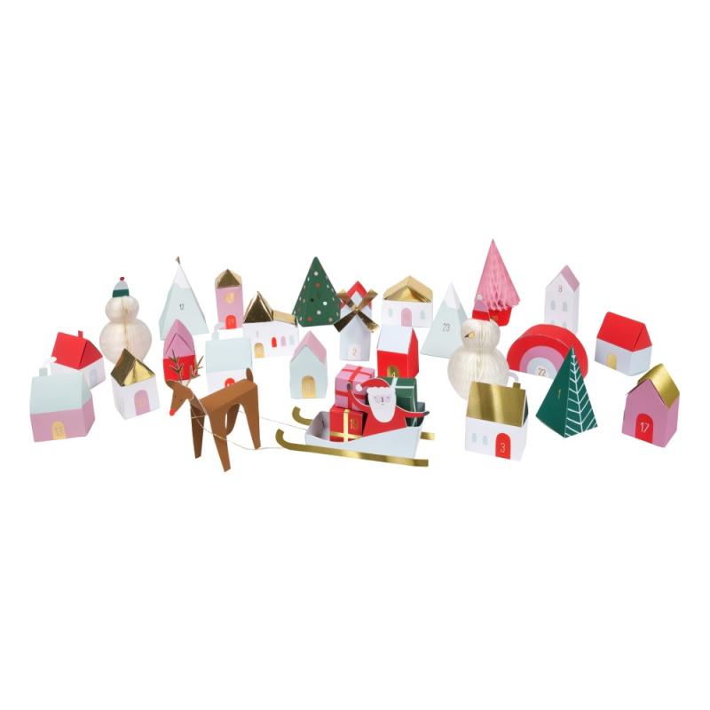 Calendrier-de-l-avent-village-en-carton-magasin-jouets-paris